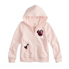 Disney Minnie Mouse Girls 4-7 Sequin Heart Full-Zip Hoodie By Jumping Beans®