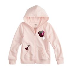 Disney Minnie Mouse Toddler Girls Sequin Heart Full-Zip Hoodie By Jumping Beans®