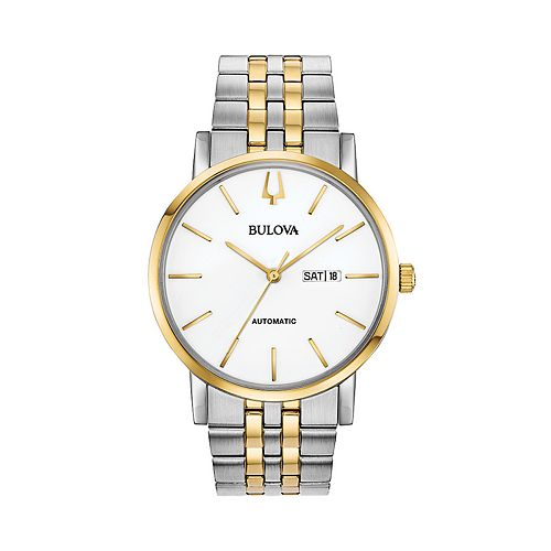 Bulova Men's Classic Two Tone Stainless Steel Automatic Watch - 98C130
