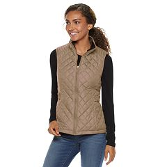 Women's Weathercast Quilted Velour-Lined Vest