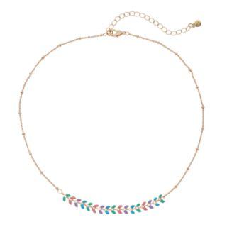 LC Lauren Conrad Pastel Arrow Necklace