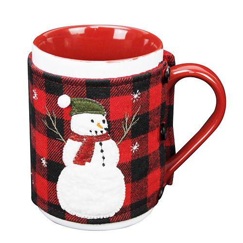 St. Nicholas Square® Snowman Plaid Mug