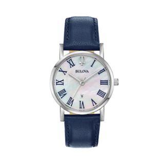 Bulova Women's Classic Slim-Profile Leather Watch - 96M146