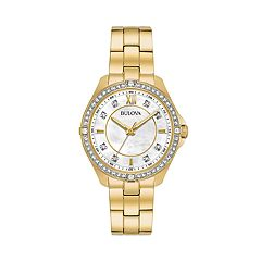 Bulova Women's Crystal Stainless Steel Watch - 98L230