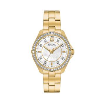 Bulova Women's Crystal Stainless Steel Watch - 98L230