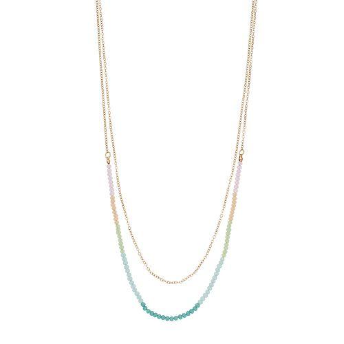 LC Lauren Conrad Bead Multi Strand Necklace