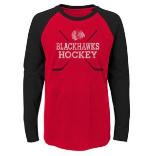 Boys 4-18 Chicago Blackhawks Hockey Sticks Tee