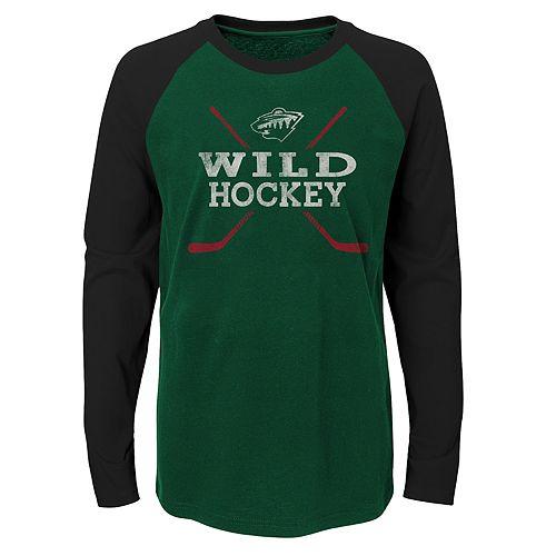 Boys 4-18 Minnesota Wild Hockey Sticks Tee