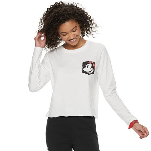 Disney's Mickey Mouse 90th Anniversary Juniors' Minnie Mouse Pocket Crop Top