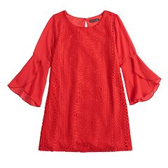 Girls 7-16 My Michelle Bell Sleeve lace Dress