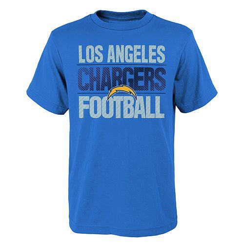 Boys 4-18 Los AngelesChargers Light Streaks Tee