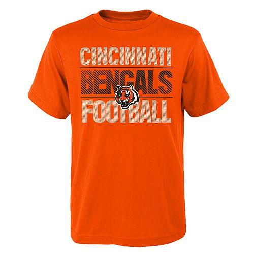 Boys 4-18 Cincinnati Bengals Light Streaks Tee