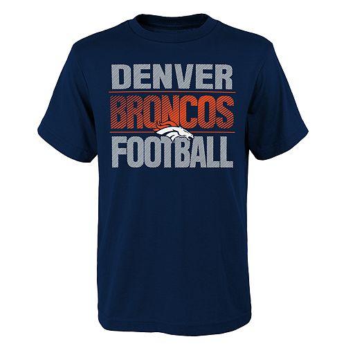 Boys 4-18 Denver Broncos Light Streaks Tee