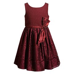 Girls 4-6x Youngland Bow and Lace Skirt Dress