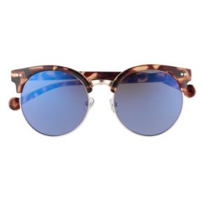 Converse 55mm Women's Round Clubster Mirrored Sunglasses