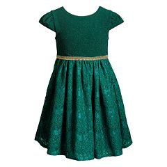 Girls 4-6x Youngland Lurex Lace Skirt Dress