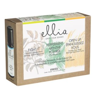 Ellia Fight It, Peppermint & Open Up Essential Oil 3-piece Set