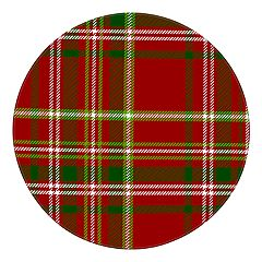 St. Nicholas Square® Plaid Melamine Dinner Plate