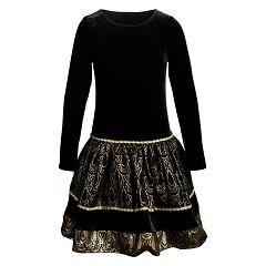 Girls 4-6x Youngland Foiled Velvet Dress
