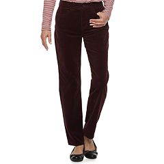 Women's Croft & Barrow® Comfort Waist Straight-Leg Corduroy Pants