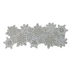 St. Nicholas Square® Beaded Snowflake Table Runner - 36'