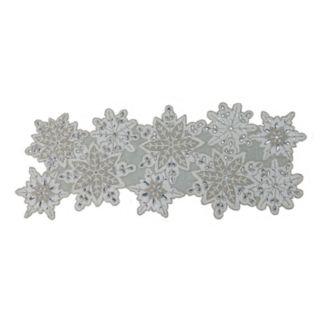 "St. Nicholas Square® Beaded Snowflake Table Runner - 36"""