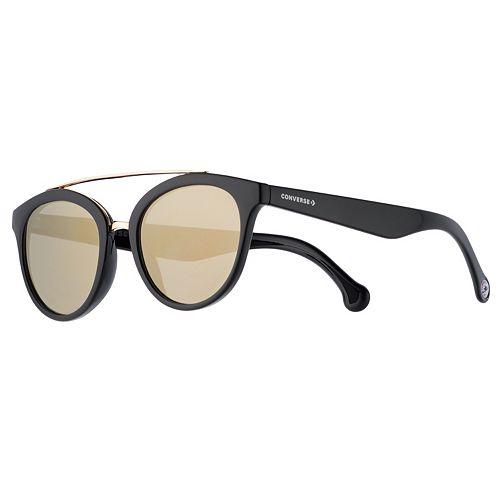 Converse 51mm Women's Modified Round Mirrored Sunglasses