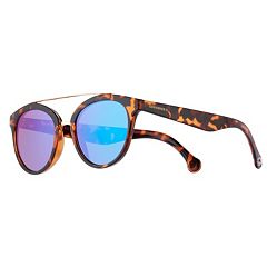 Converse 51mm Women's Modified Round Mirrored Sunglasses