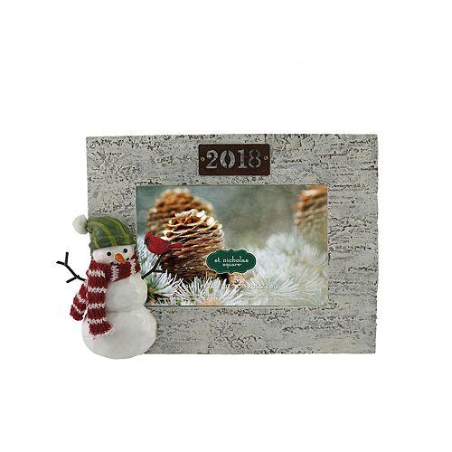 St Nicholas Square 2018 Snowman 4 X 6 Frame