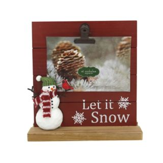 "St. Nicholas Square® ""Snow"" 4"" x 6"" Photo Clip Frame"