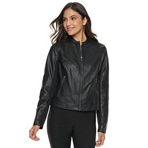 fab05e88c04f Sale.  49.99. Original.  68.00. Women s Apt. 9® Faux-Leather Moto Jacket