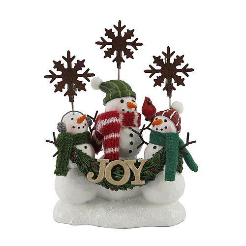 """St. Nicholas Square® """"Joy"""" Snowman Photo Clip"""