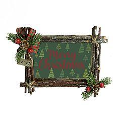 St. Nicholas Square® '2018' Rustic 4' x 6' Christmas Frame