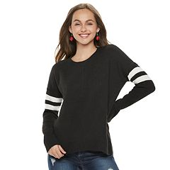 Juniors' Pink Republic Varsity Striped Sweater