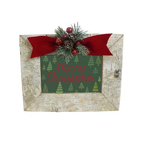 "St. Nicholas Square® Faux Birch 4"" x 6"" Christmas Frame"