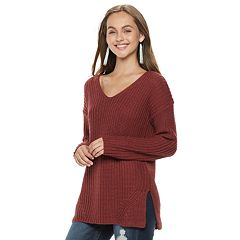 Juniors' Pink Republic Cutout Back Sweater
