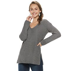 Juniors' Pink Republic Cutout Back Sweater