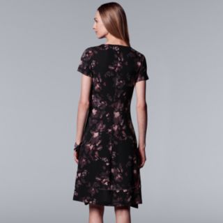 Women's Simply Vera Vera Wang Floral High-Low Hem Dress