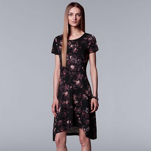 Women's Simply Vera Vera Wang Floral High-Low Hem Dress