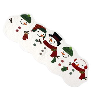 """St. Nicholas Square® Quilted Snowman Table Runner - 36"""""""