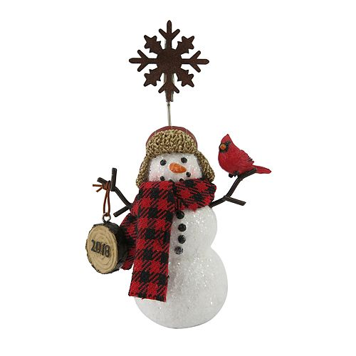 "St. Nicholas Square® ""2018"" Snowman Photo Clip"