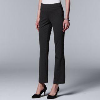 Women's Simply Vera Vera Wang Everyday Luxury Pull-On Ponte Bootcut Pants