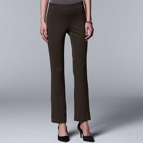 ef663250df Women's Simply Vera Vera Wang Everyday Luxury Pull-On Ponte Bootcut Pants