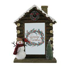 St. Nicholas Square® Log Cabin 4' x 6' Christmas Frame
