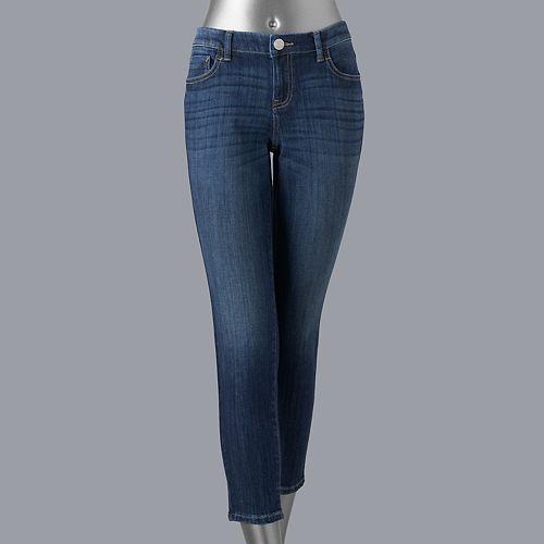 Women's Simply Vera Vera Wang Everyday Luxury Ankle Skinny Jeans