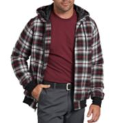 Men's Dickies X-Series Modern-Fit Plaid Hooded Bomber Shirt Jacket