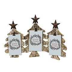 St. Nicholas Square® Rustic Tree Christmas Photo Clip Frame