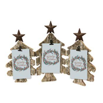 St. Nicholas Square® Rustic Tree Christmas Photo Clip Frame