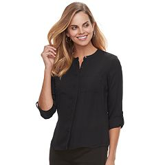 Petite Apt. 9® 2-pocket Button Down Top