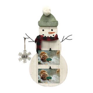 St. Nicholas Square® Snowman 2-Opening Photo Clip Frame